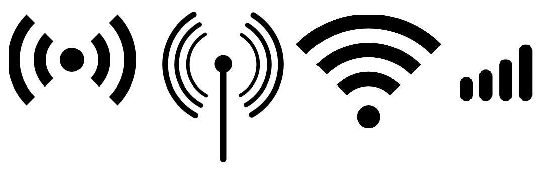 There are many different wifi symbols. These 4 symbols are an example